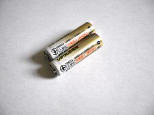 充電の切れた乾電池・バッテリー