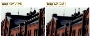 画素数の違いのイメージ画像